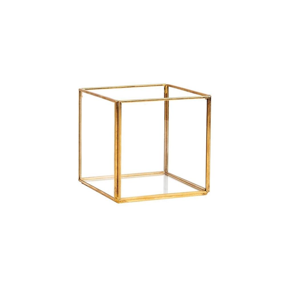 SHOWROOM Skleněný box čtvercový 10 cm
