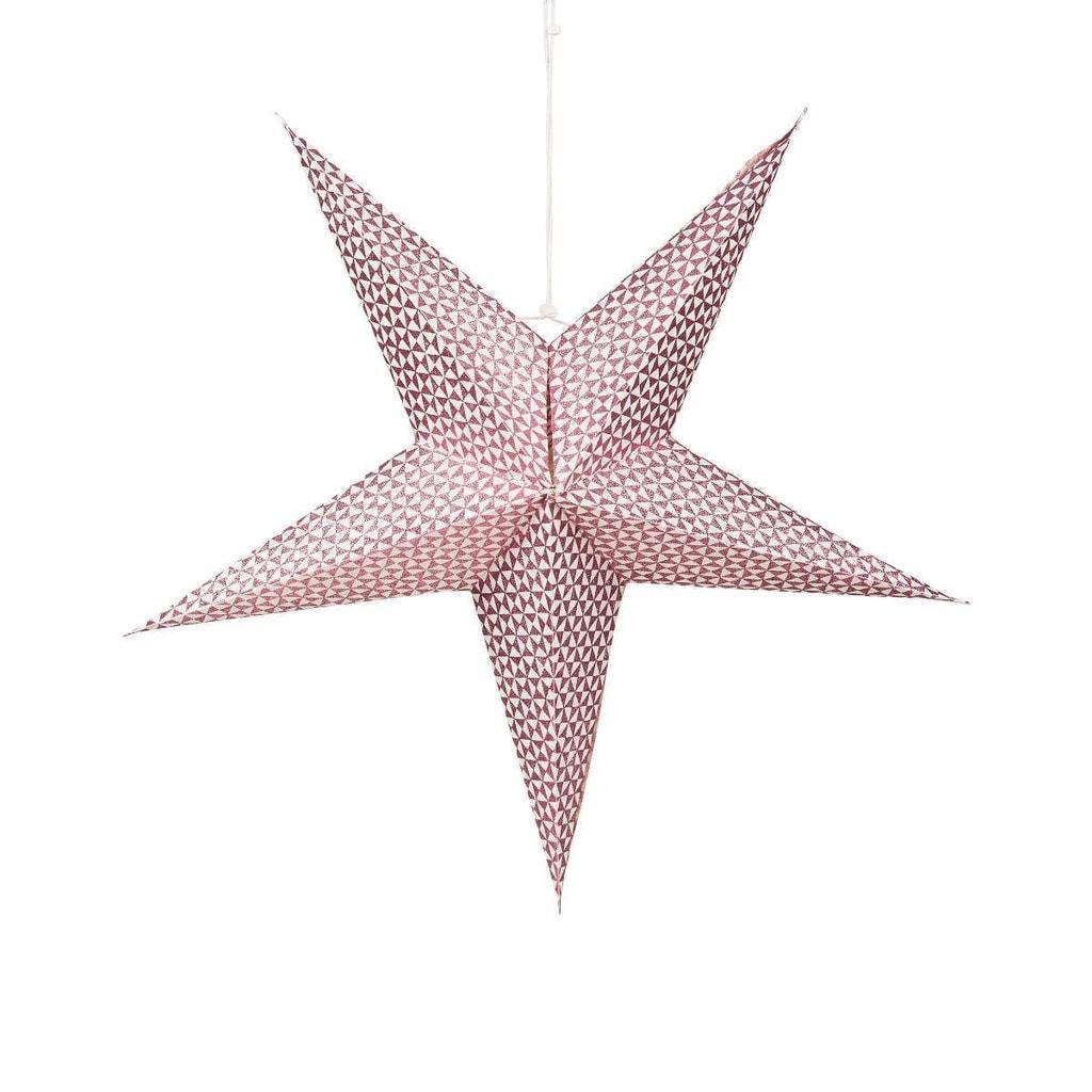 LATERNA MAGICA Papírová dekorační hvězda 60 cm - růžová