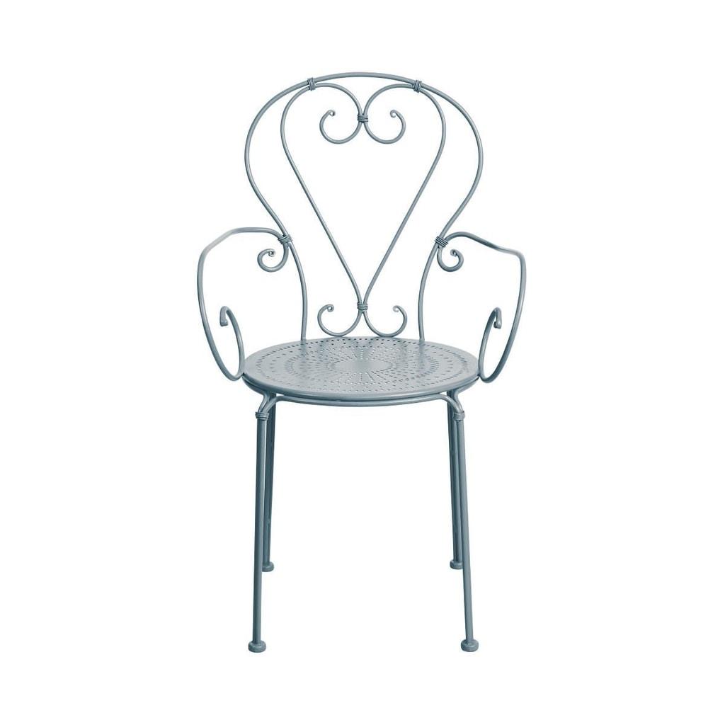 CENTURY Židle s područkami - šedá