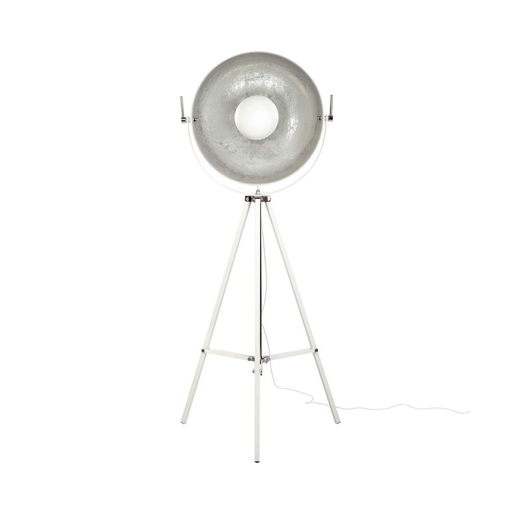 SATELLIGHT Stojací lampa - bílá/stříbrná