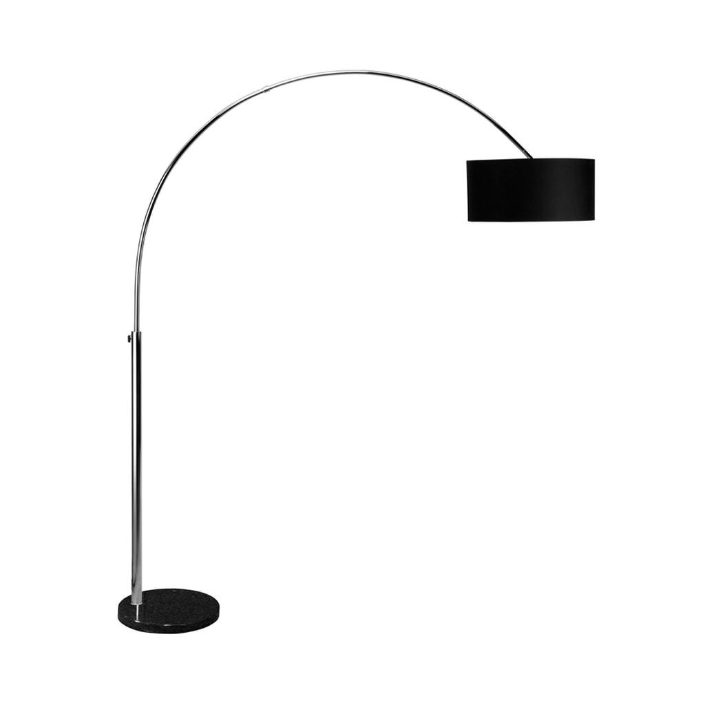 BOW Stojací lampa - chrom/černá