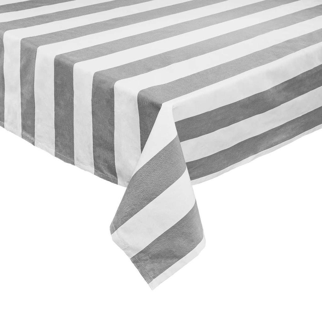 LA LINEA Ubrus 160 x 160 cm - šedá/bílá