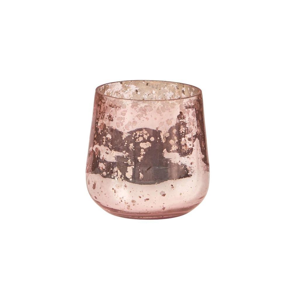 PIXIE DUST Svícen 8 cm - sv. růžová