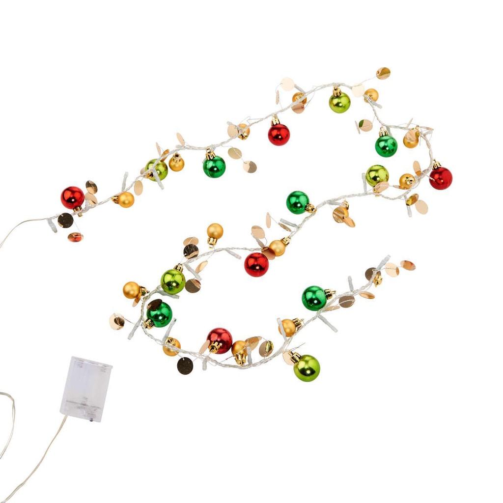 JOLLY LIGHTS LED Světelný řetěz s kuličkami - červená/zelená