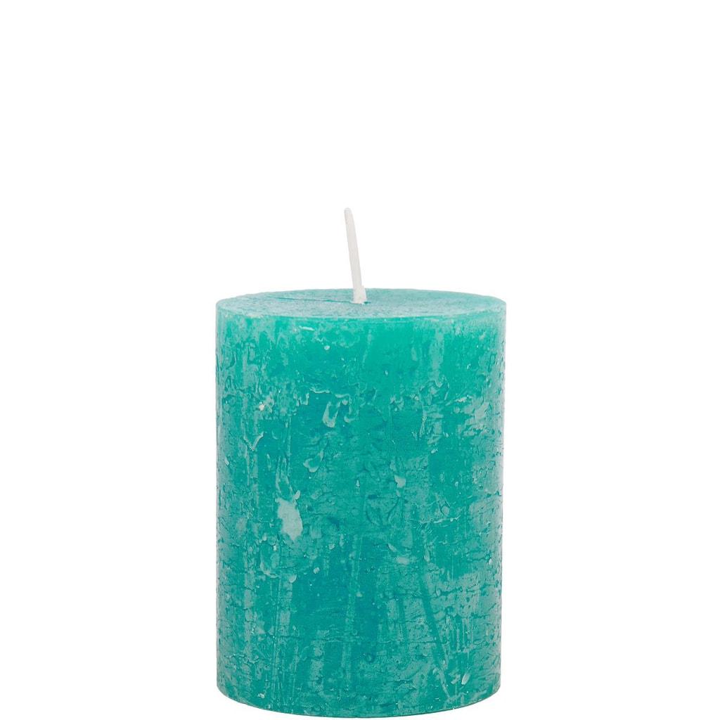 RUSTIC Svíčka 9 cm - modrozelená
