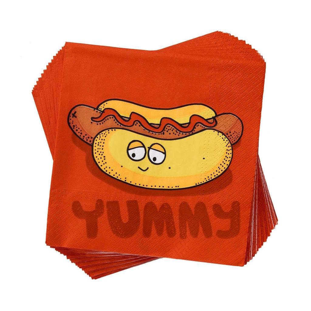 APRÉS Papírové ubrousky hotdog Yummy