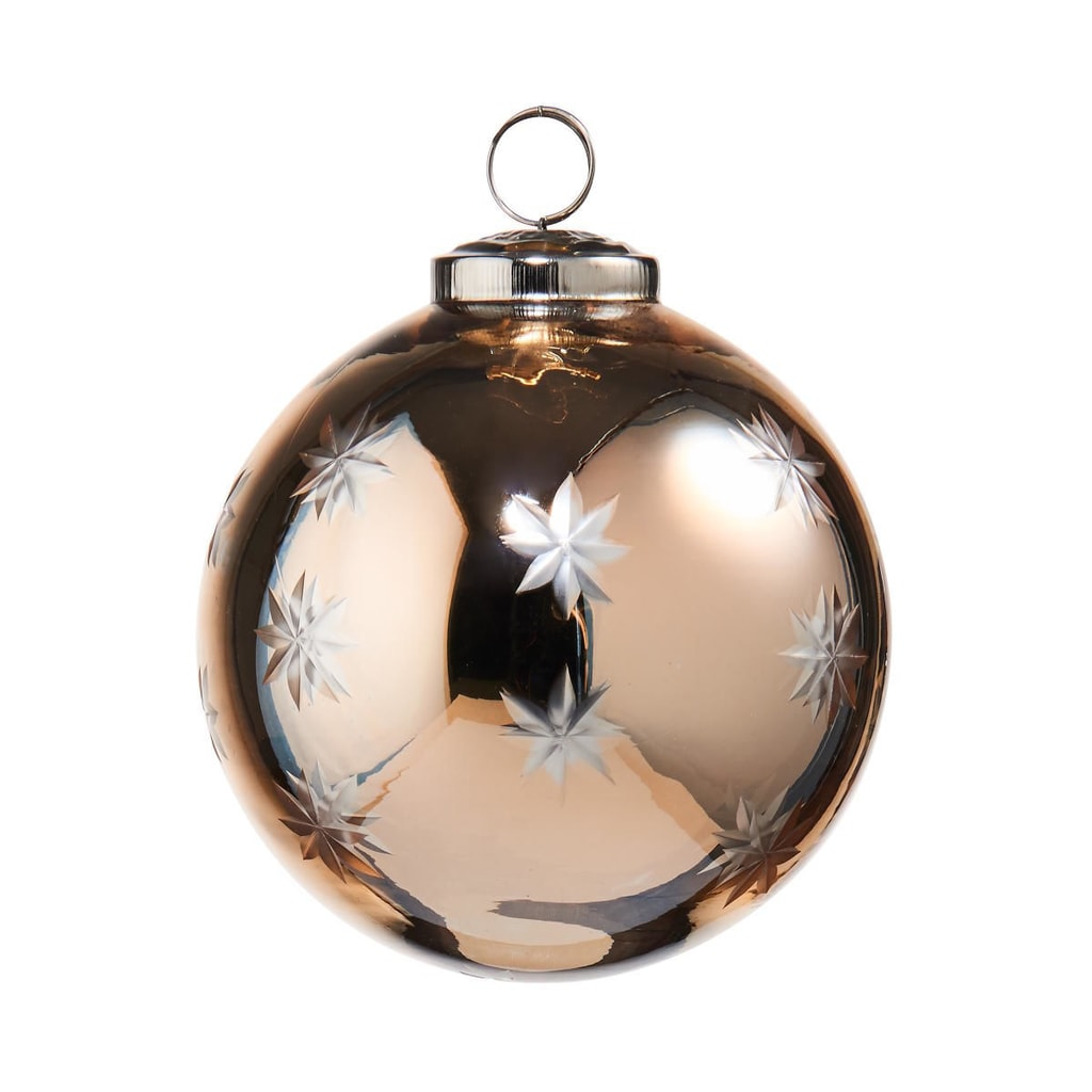 HANG ON Ozdoba skleněná koule 8 cm - zlatá