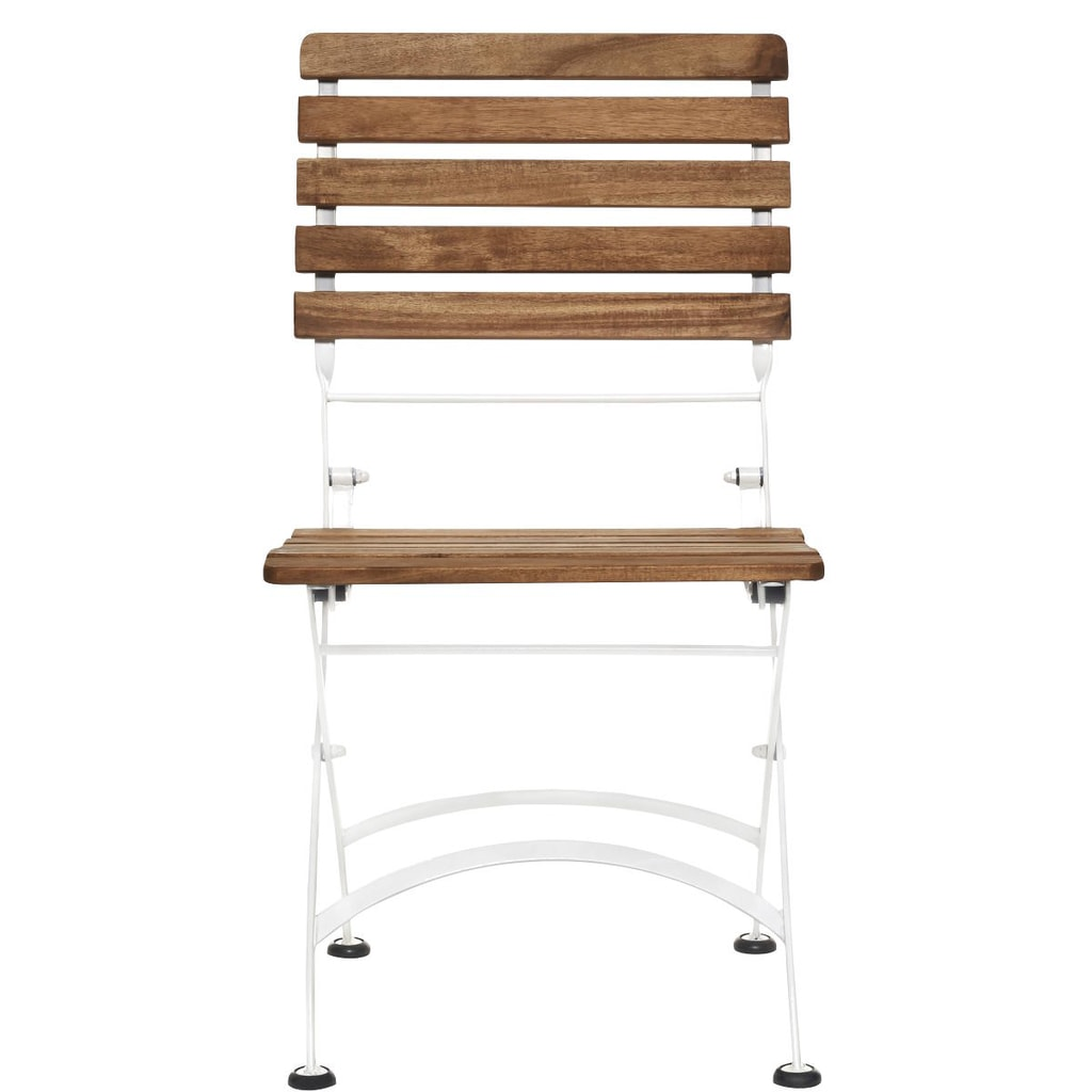 PARKLIFE Skládací židle - hnědá/bílá
