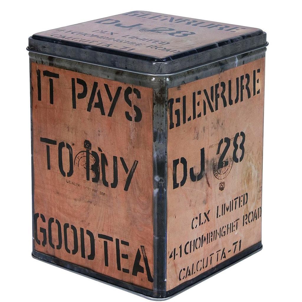 TEA TANIC Dóza na čaj plechová 13x17x13cm