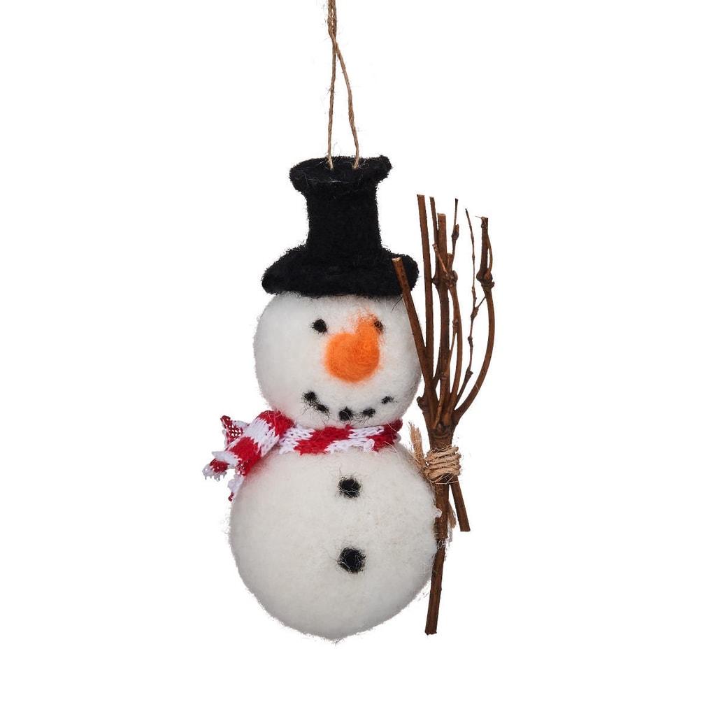 HANG ON Ozdoba filcová sněhulák