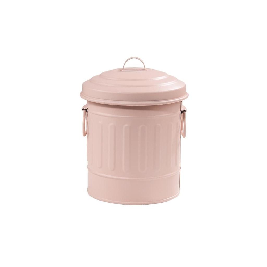 LITTLE OSCAR Odpadkový koš 1 l - pastelově růžová