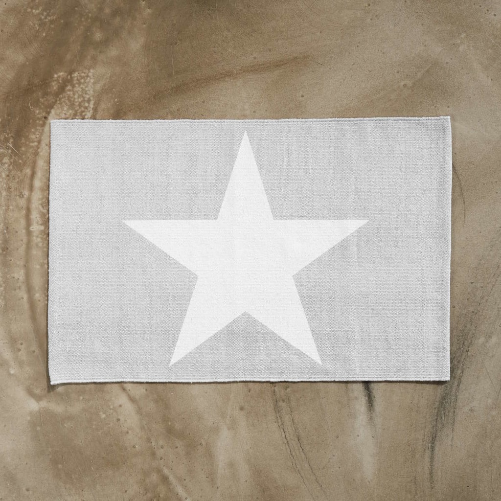 SILENT DANCER Koberec hvězda 60 x 90 cm - šedá/bílá