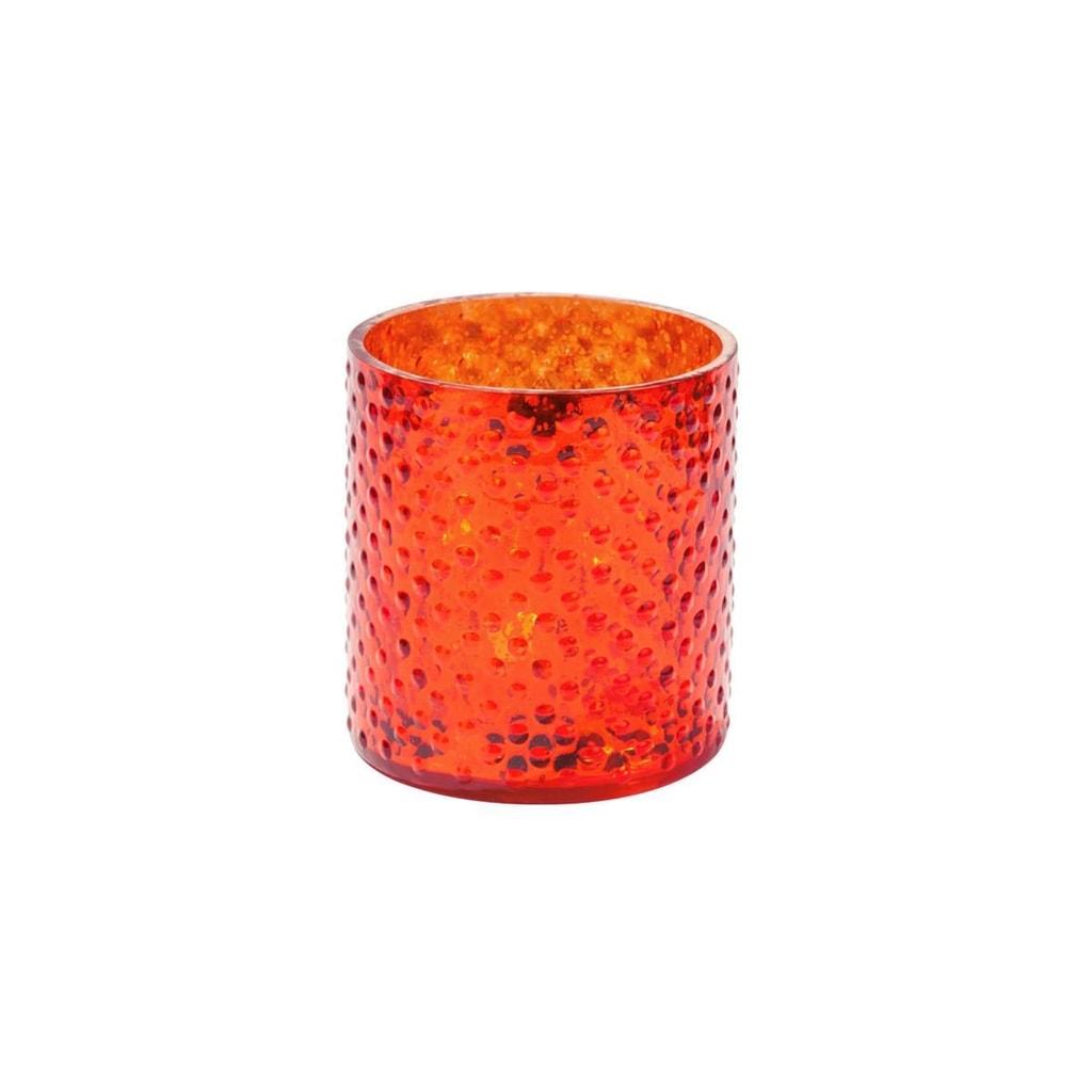 Fotografie DELIGHT Svícen na čajovou svíčku 8 cm - oranžová
