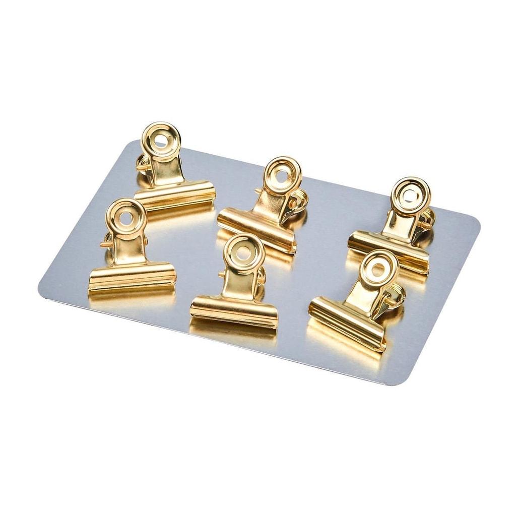 HANG ON Klip s magnetem malý - zlatá