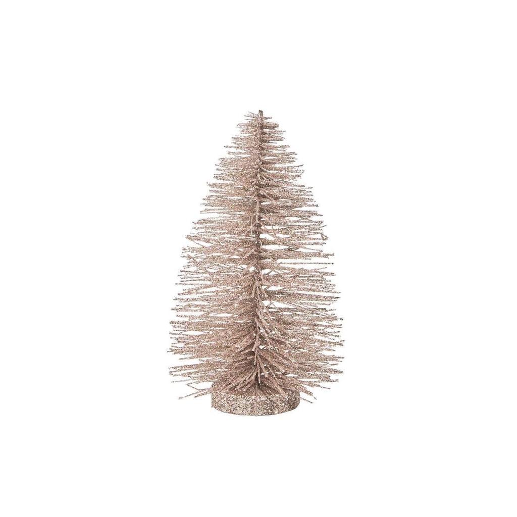 X-MAS Stromeček třpytivý 22 cm - krémová