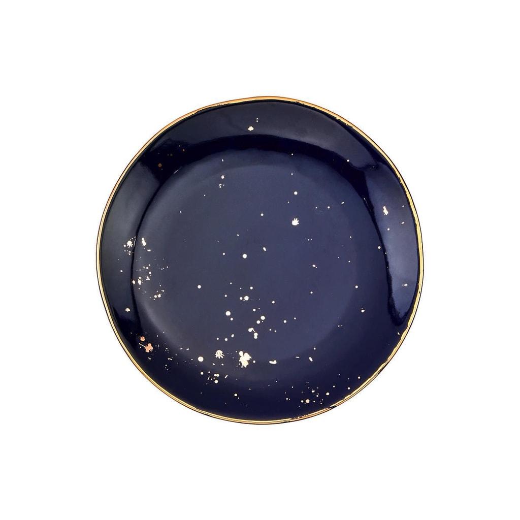 GOLDEN GLAZE Talíř 20,5 cm - modrá