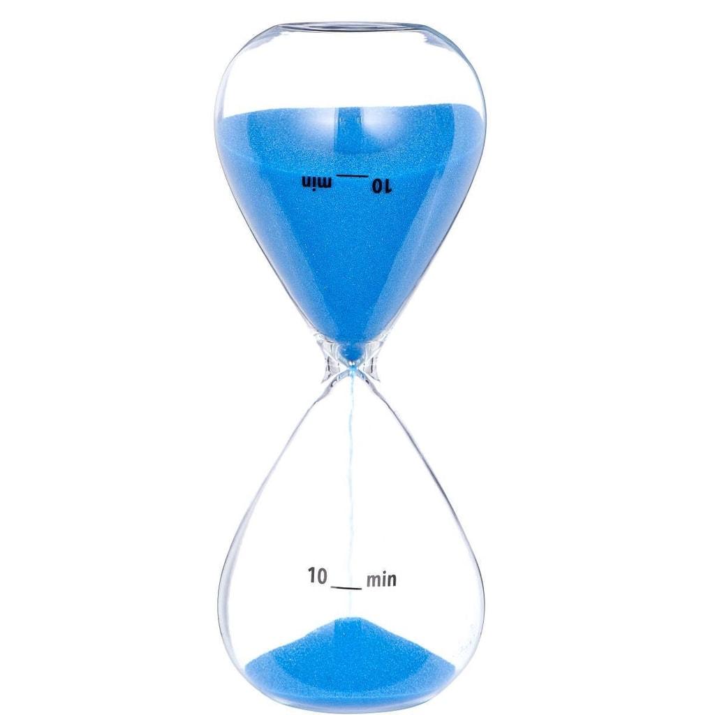 TOP TEN Přesýpací hodiny 10 min. - modrá