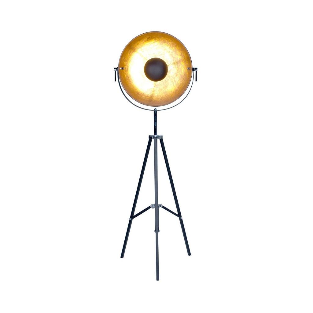 SATELLIGHT Stojací lampa - černá/zlatá