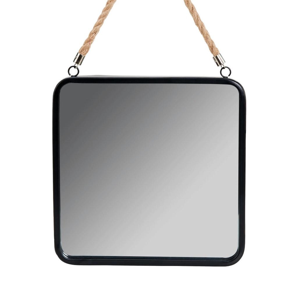 A LOFT Závěsné zrcadlo 25 cm - černá