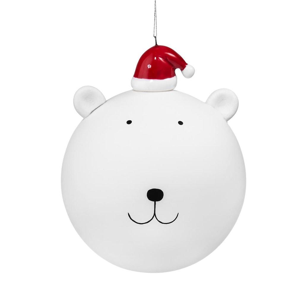 HANG ON Skleněná koule lední medvěd