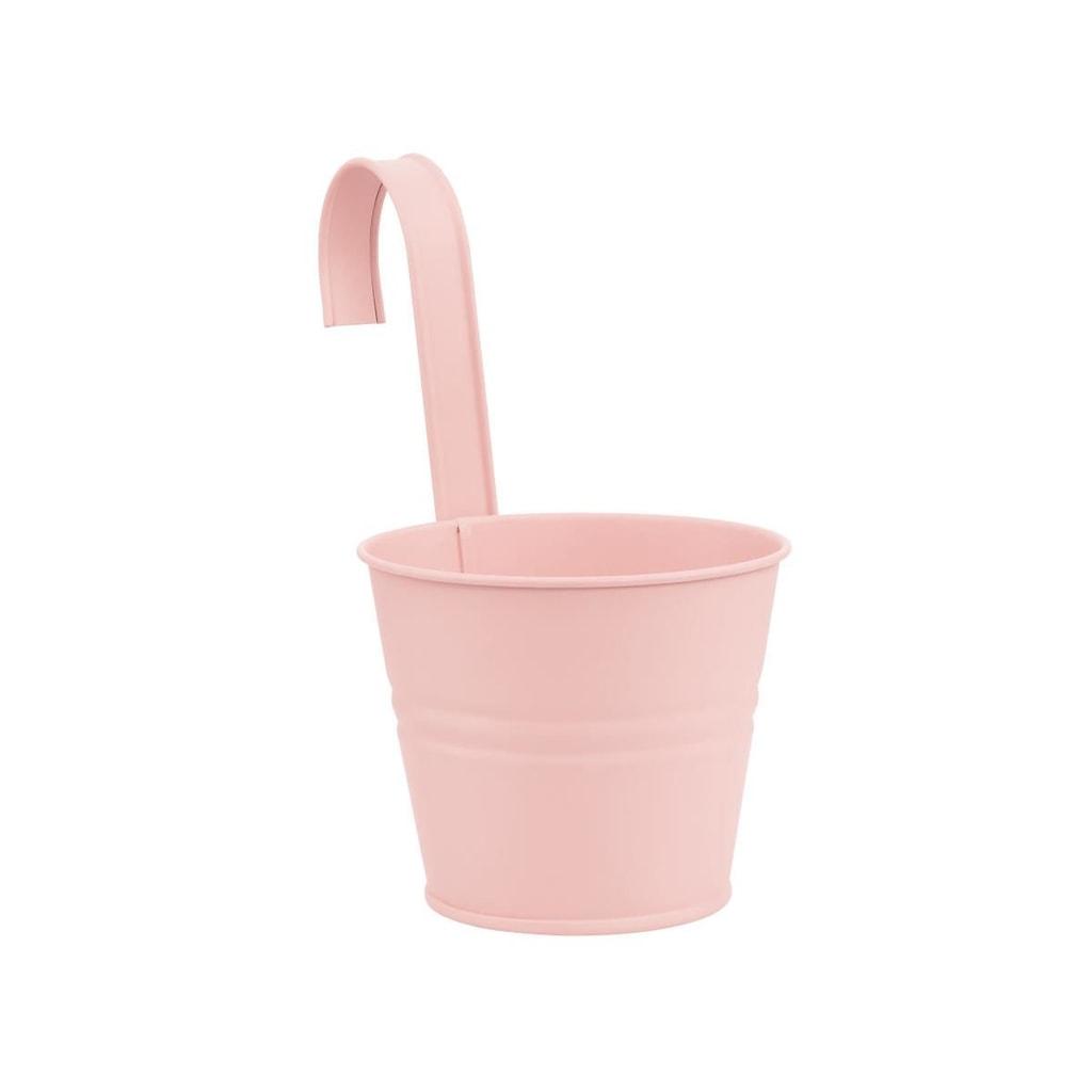 ZINC Závěsný květináč 13 cm - sv. růžová
