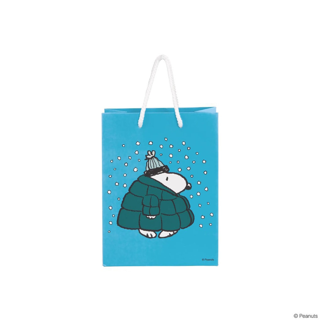 PEANUTS Dárková taška Snoopy v péřové bundě malá