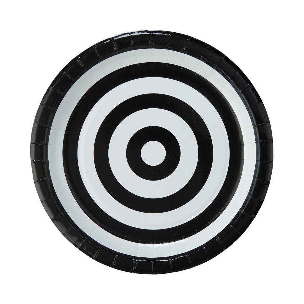 BLACK & WHITE Papírový talíř