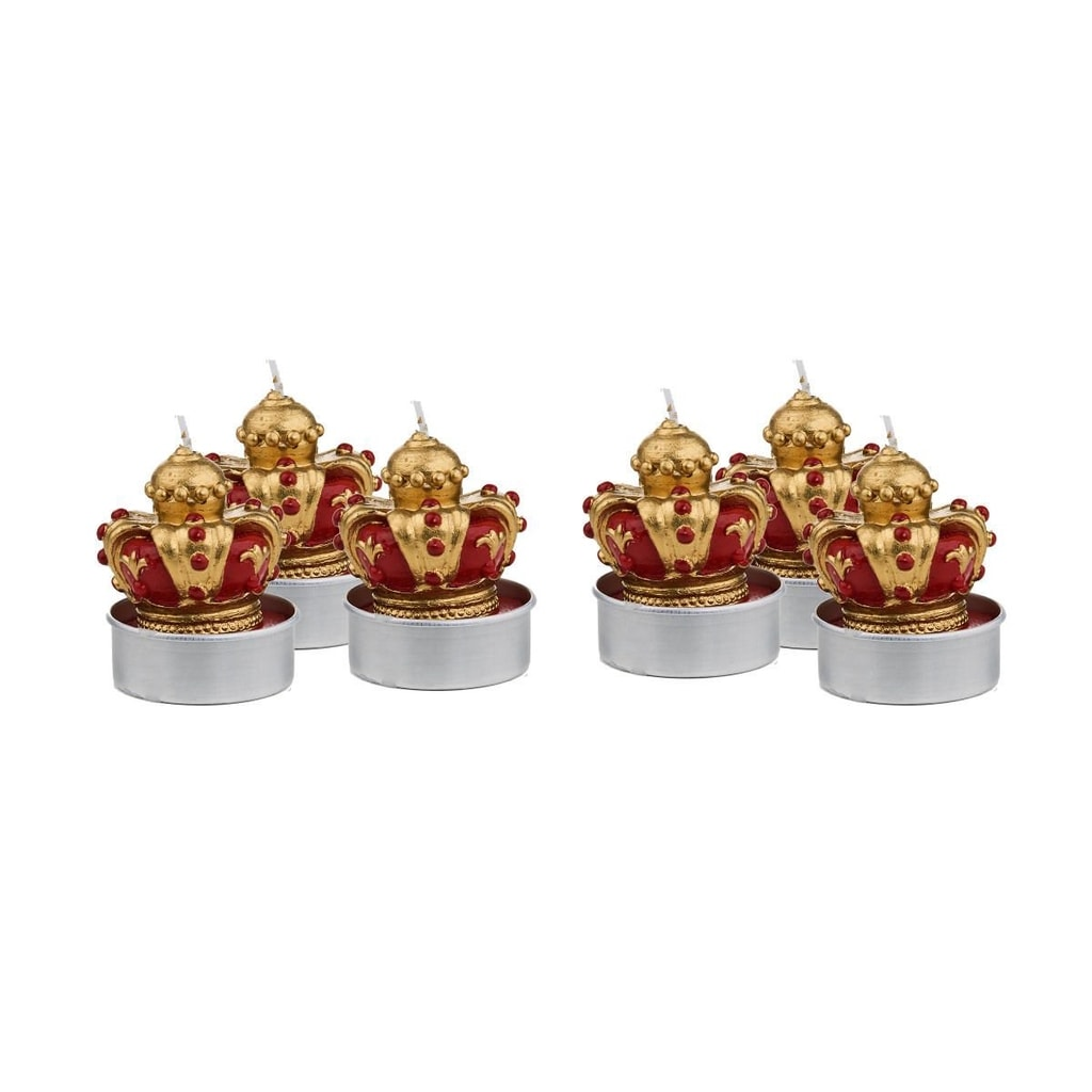 MERRY AND BRIGHT Čajové svíčky korunka set 6 ks