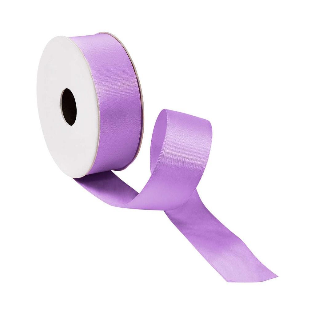 SATIN Dárková stuha široká - pastelově fialová