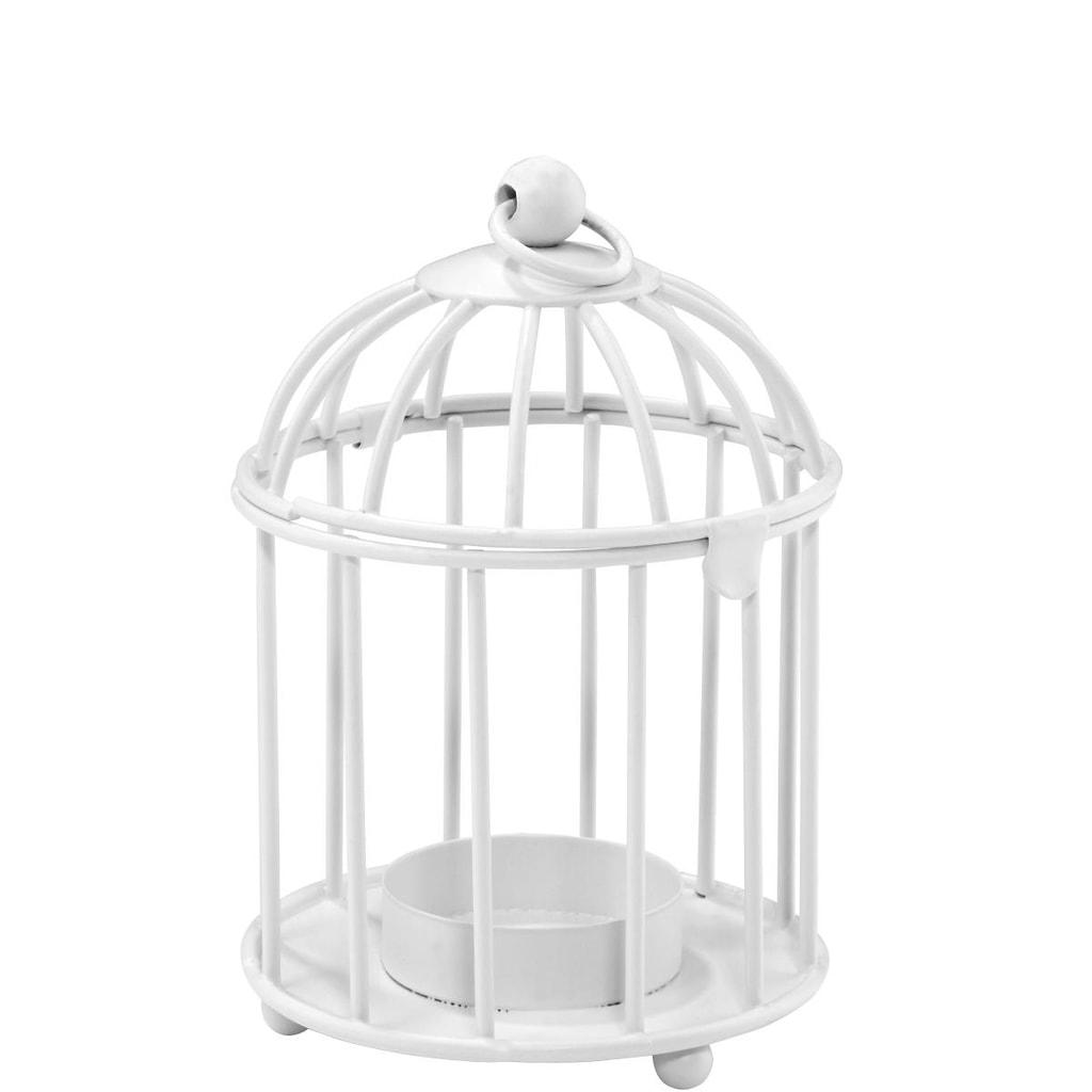SCARLETT Lucerna na čajovou svíčku ptačí klec
