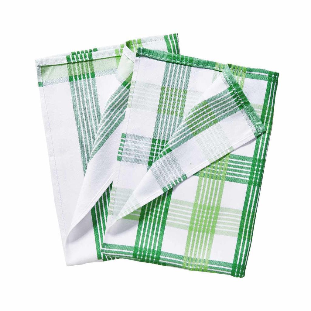 CLEAN TEAM Utěrka set 2 ks - zelená/bílá