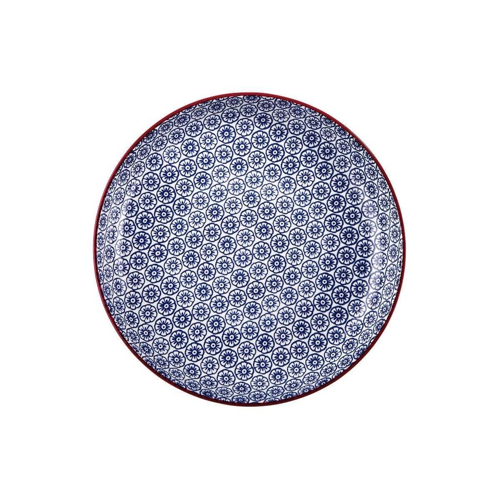 RETRO Talíř hluboký 21 cm - modrá