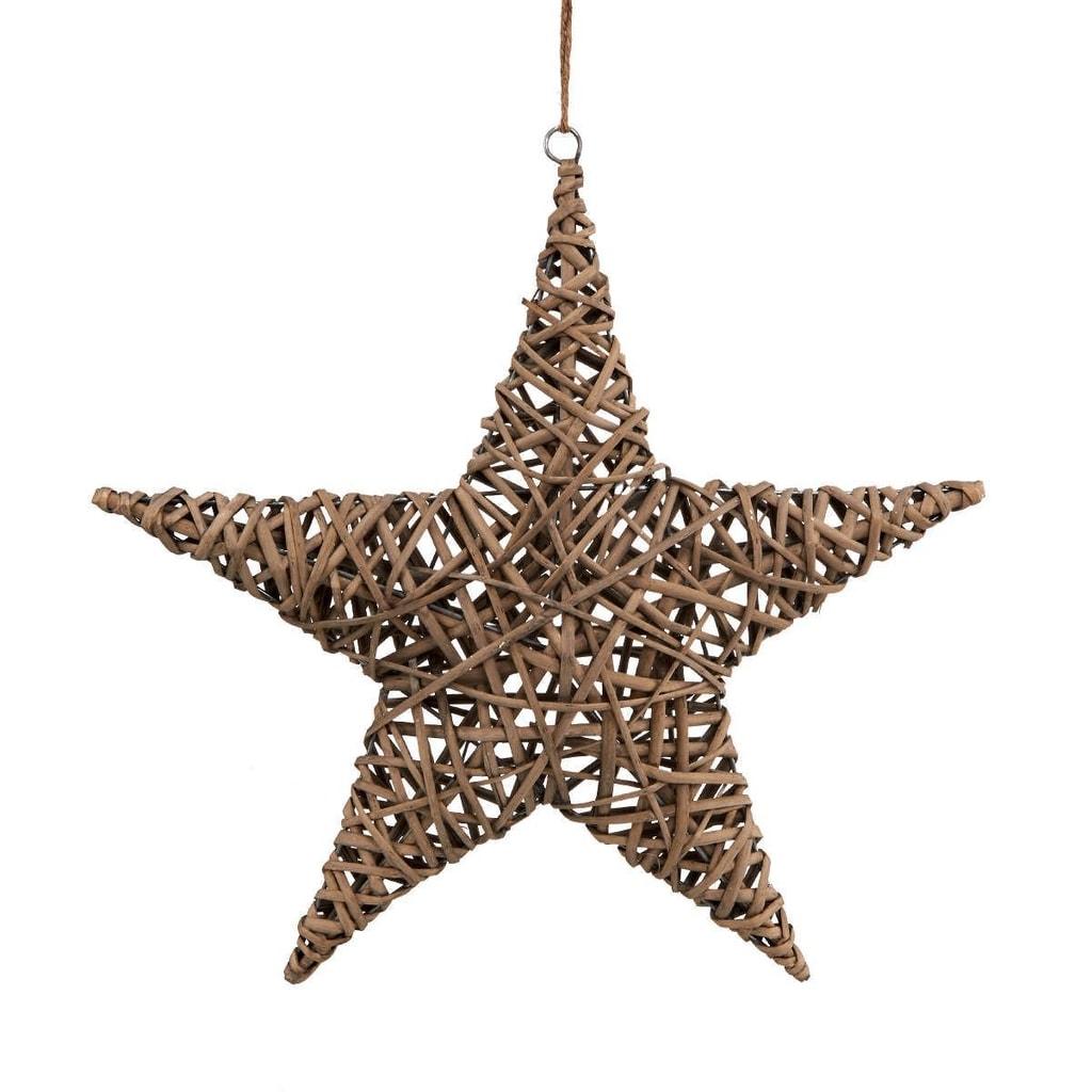 WILLOW Hvězda proutěná 50 cm