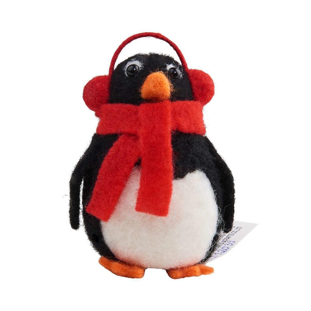 HANG ON Ozdoba filcová tučňák klapky na uších