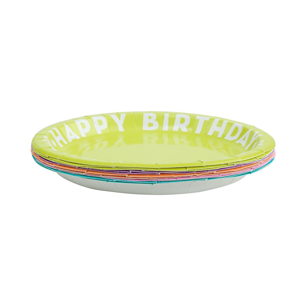 HAPPY BIRTHDAY Papírové talířky 10 ks
