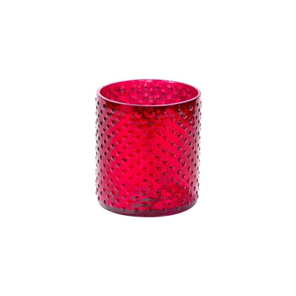 DELIGHT Svícen na čajovou svíčku 8 cm - červená