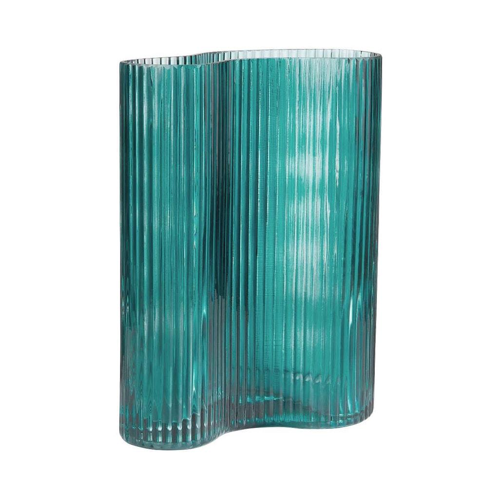 AVERY  Váza prohnutá 24 cm - petrolejová