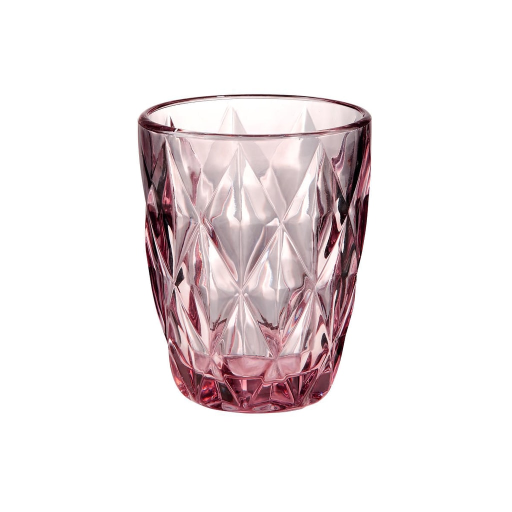 MONT FLEURI Sklenice diamant 230 ml - sv. růžová