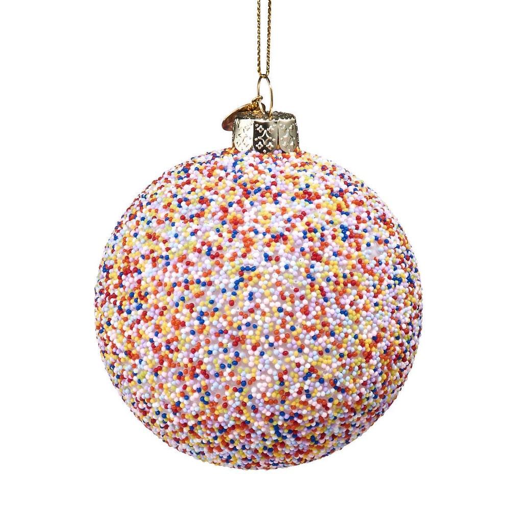 HANG ON Skleněná koule Candy Cane 8 cm - mix