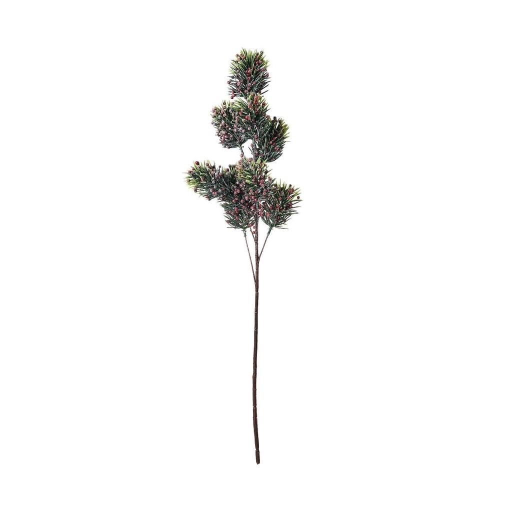 WINTERGREEN Větvička jedle s bobulkami 75 cm