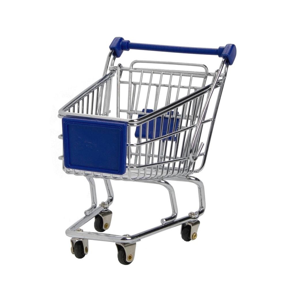 SUPERMARKET Nákupní vozík malý - modrý