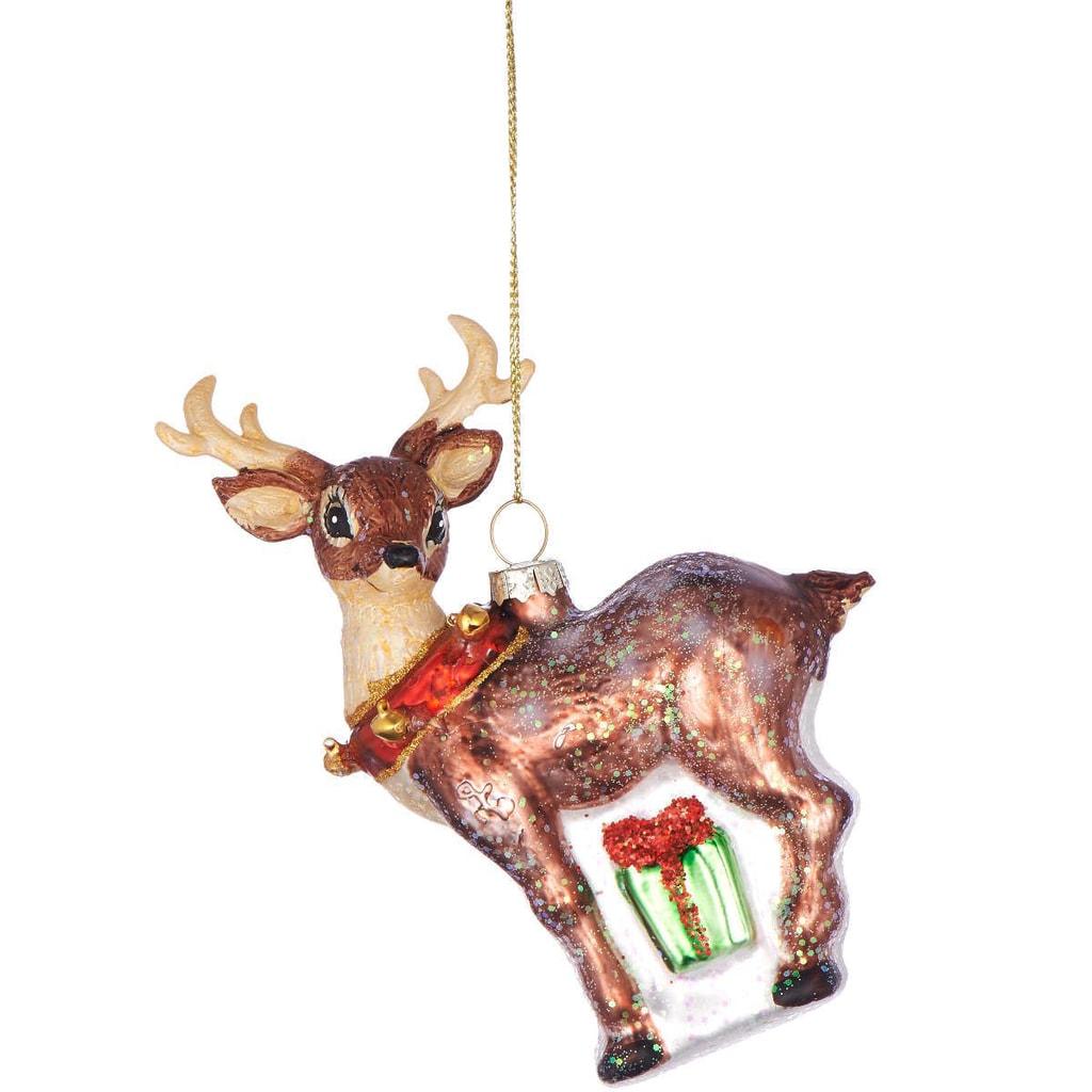 HANG ON Ozdoba jelen s rolničkami 14 cm
