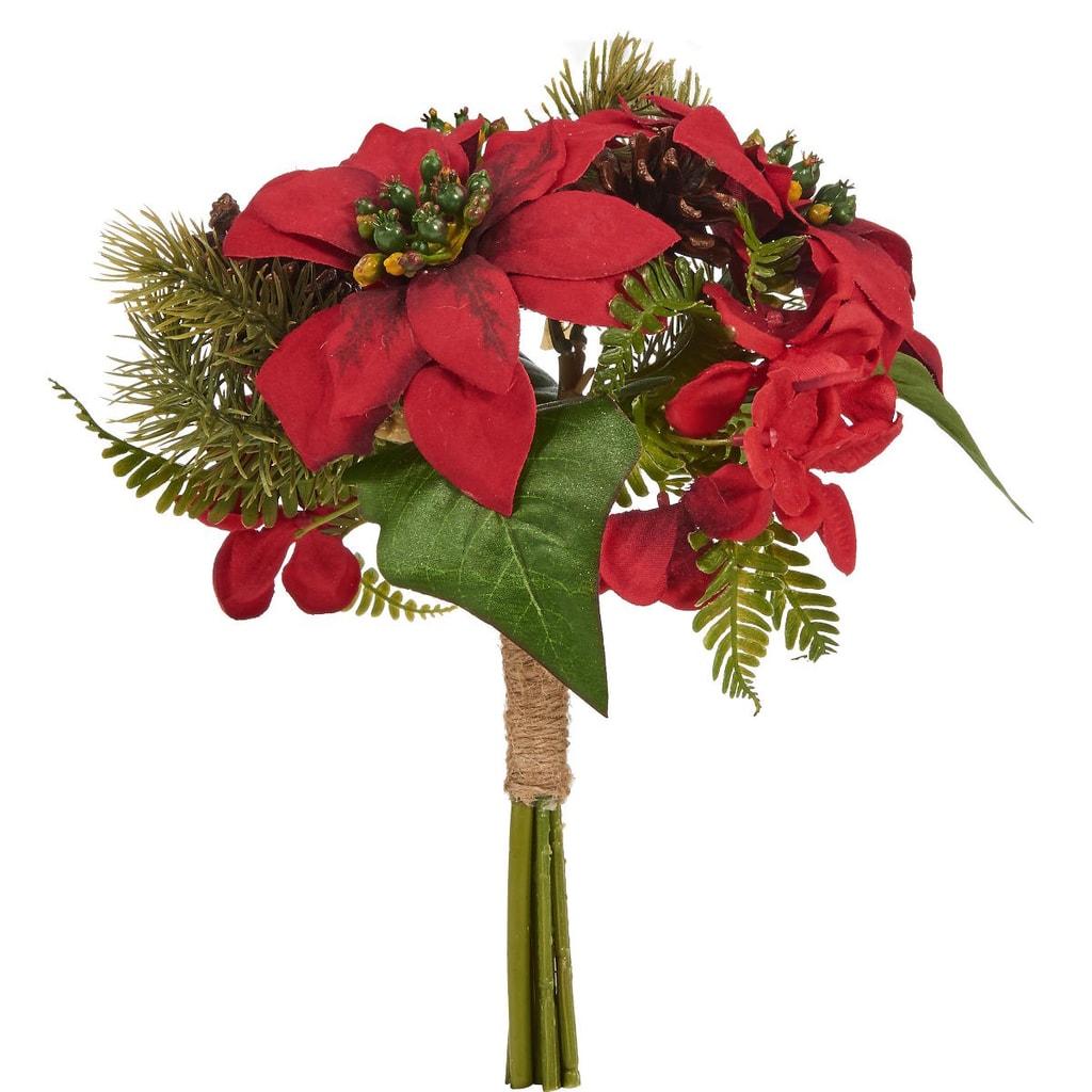 WINTERGREEN Kytice vánoční hvězda - červená