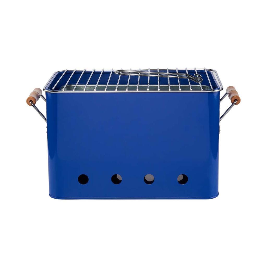 BBQ Přenosný gril - modrá