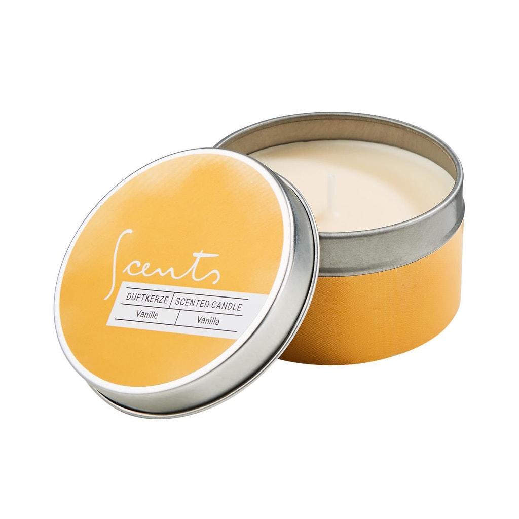 SCENTS Aromatická svíčka v dóze/vanilka
