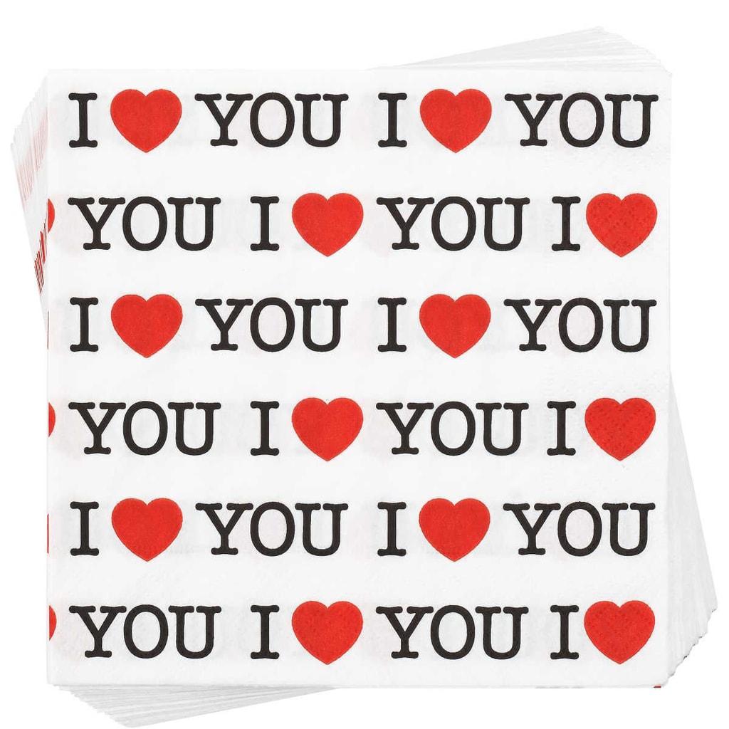 """APRÉS Papírový ubrousky """"I love you..."""""""
