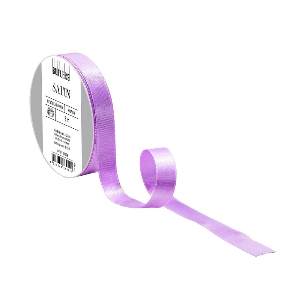 SATIN Dárková stuha tenká - pastelově fialová