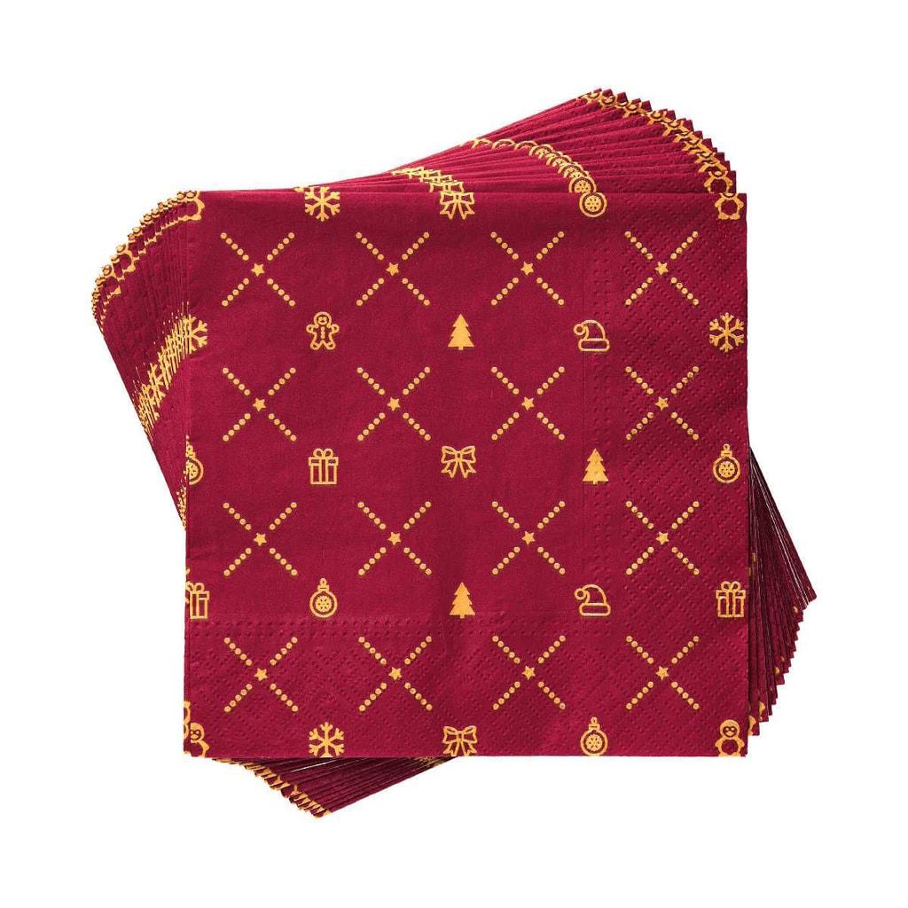 APRÉS Papírové ubrousky Petit - červená