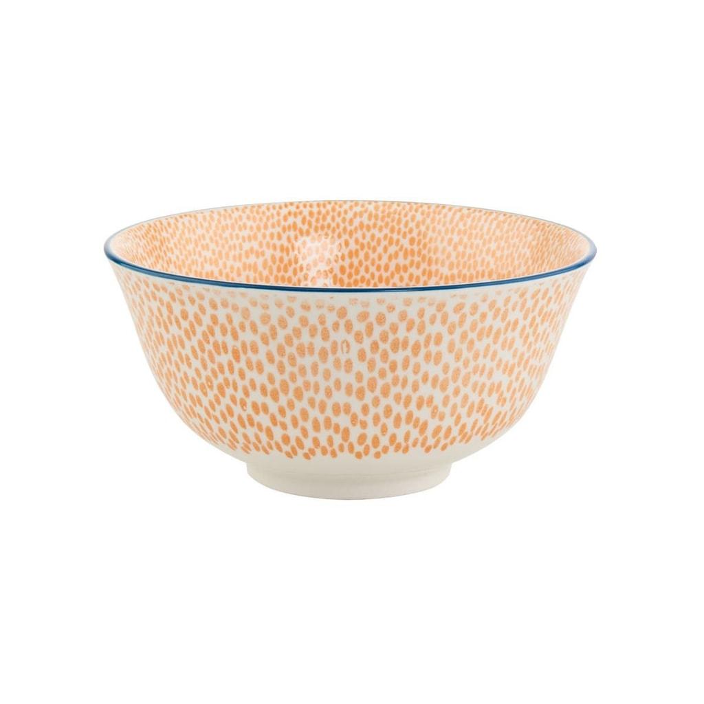 ORNAMENTS Miska puntíky 520 ml - oranžová