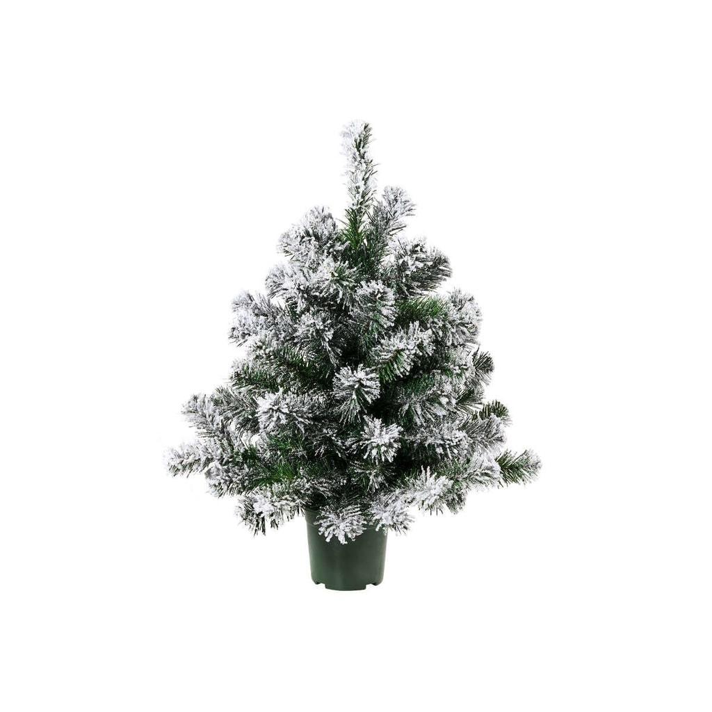 TREE OF THE MONTH Vánoční stromek zasněžený 60 cm - zelená